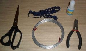Materiales para hacer un anillo con forma de flor