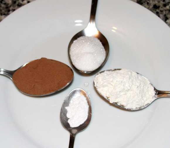 ingredientes para un bizcocho de chocolate al microondas