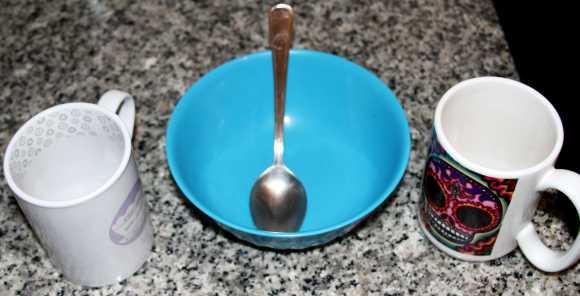 Bizcocho de chocolate al microondas - Materiales