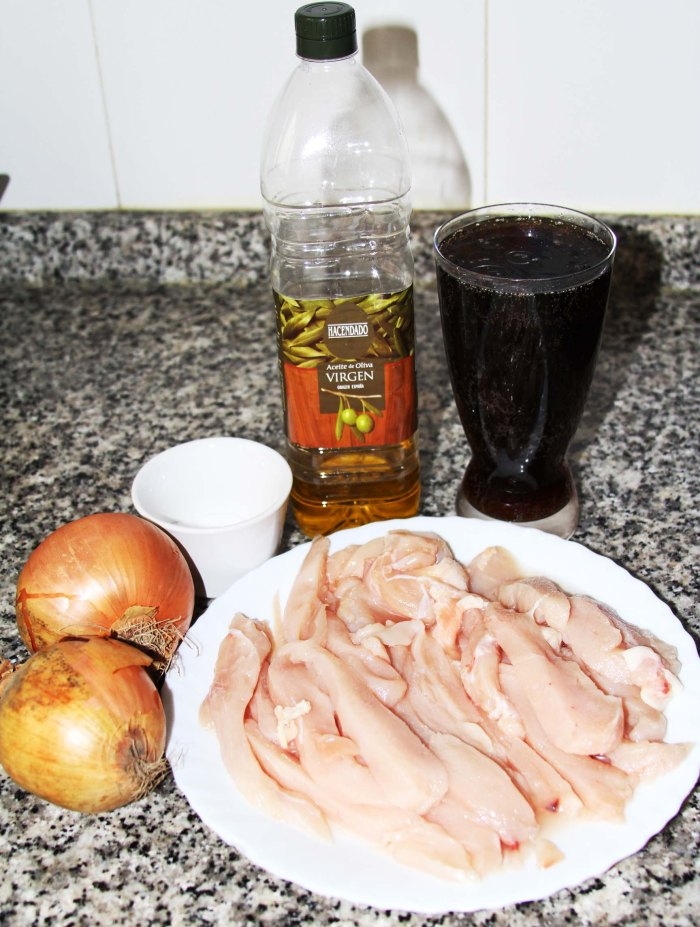 ingredientes pollo a la cocacola