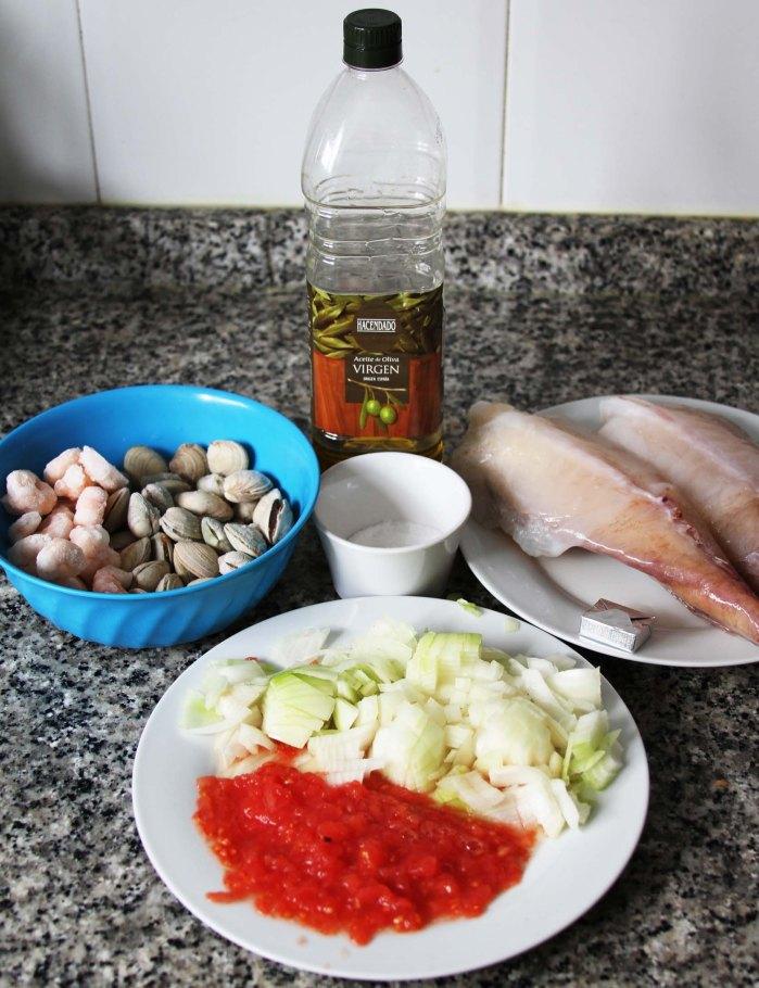 ingredientes rape a la marinera