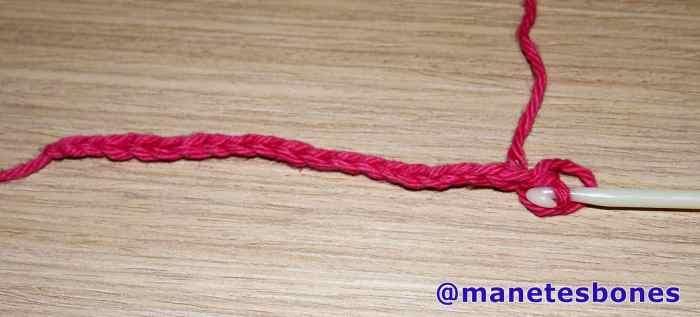 Anillo rosa crochet