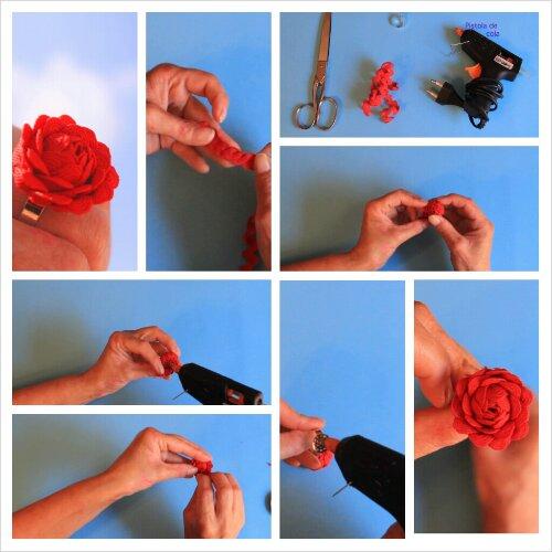 Cómo hacer un anillo con forma de flor con picolina photogrid