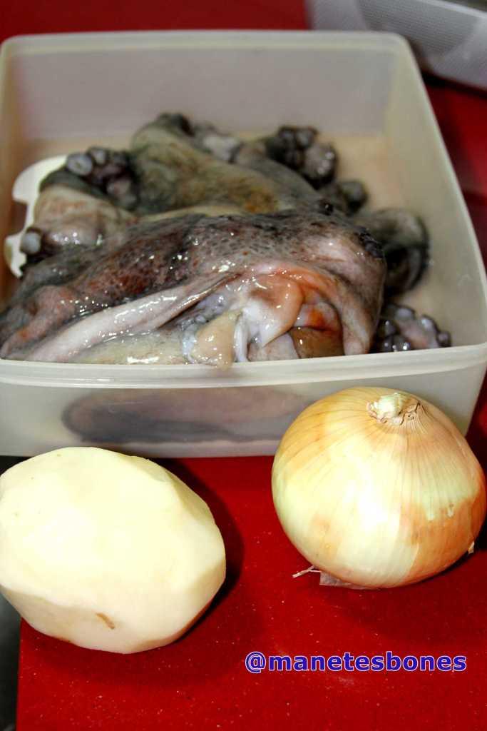 Pulpo cocido con patatas