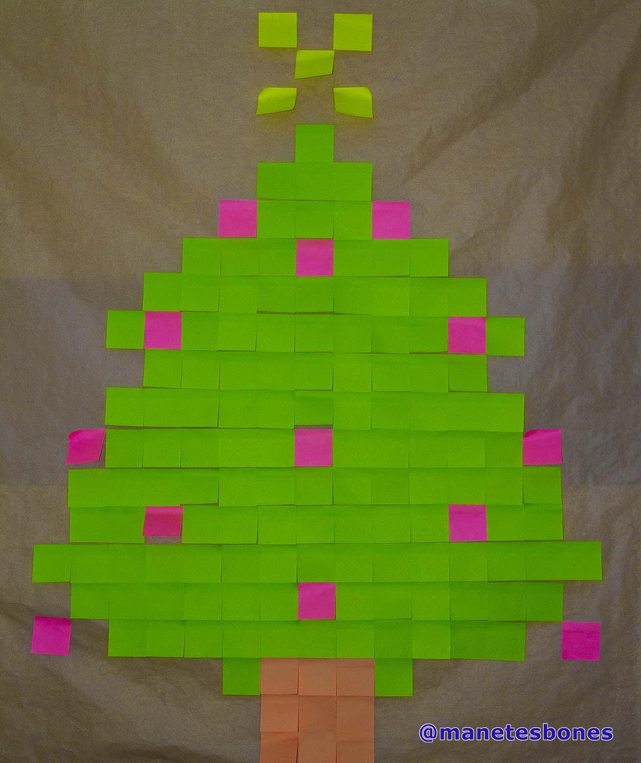 Post it rbol de navidad manetes bones - Arbol tipico de navidad ...