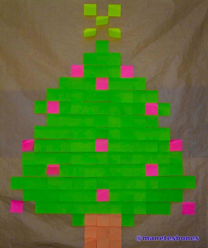 Post it árbol de navidad