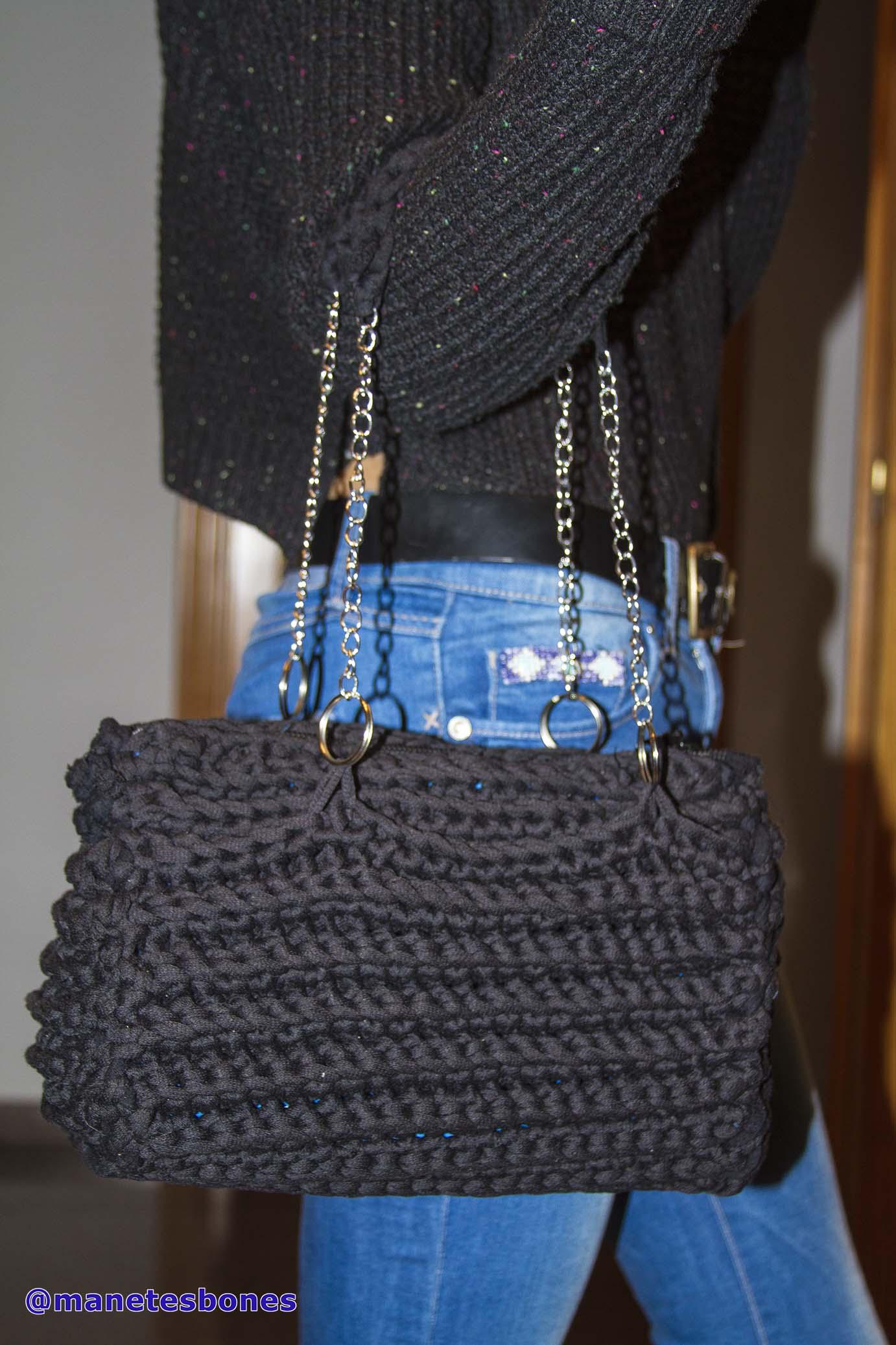 Bolsos manetes bones - Hacer bolsos de trapillo ...