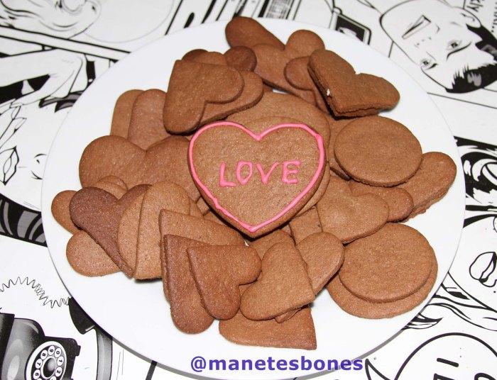Galleta mantequilla de chocolate San Valentín
