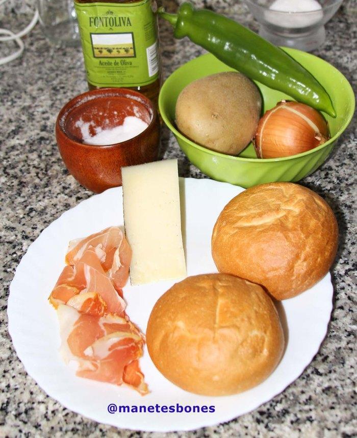 Torta de pan con jamón