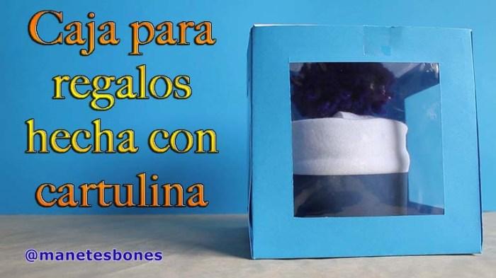 Caja para regalos hecha con cartulina