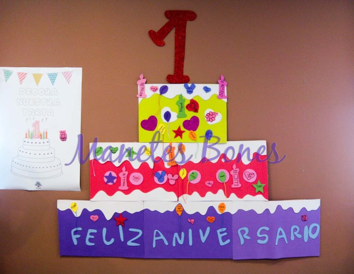 Tarta de cumpleaños Casa Ronald McDonal de Valencia