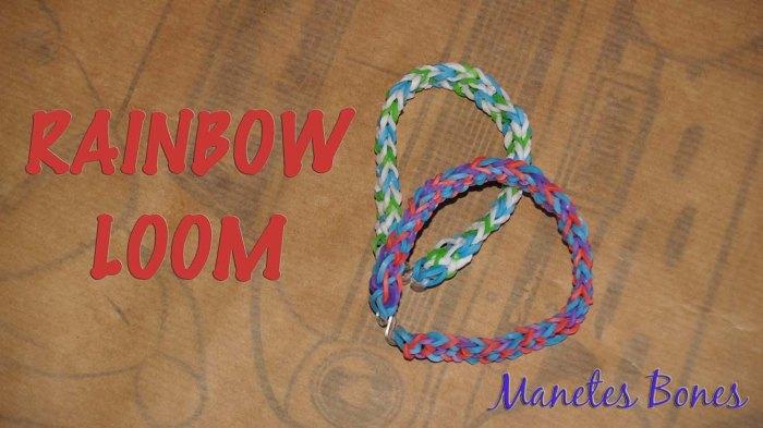 Pulsera Rainbow Loom Invertida