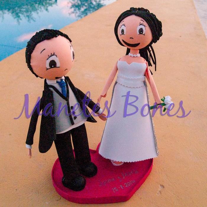 Fofuchas novios boda