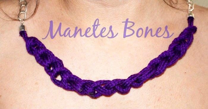 Collar de nudos hecho con cordón