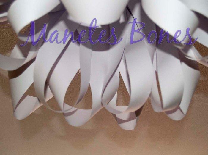 Lámpara de papel para el salón