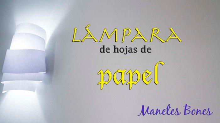Lámpara de hojas papel