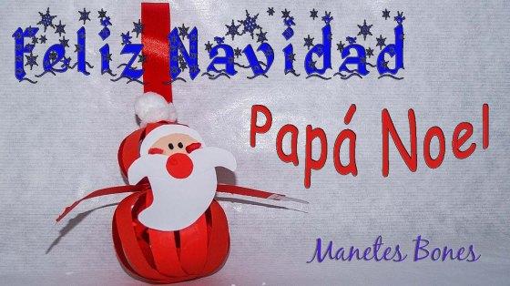 Adornos Papá Noel para el árbol de Navidad