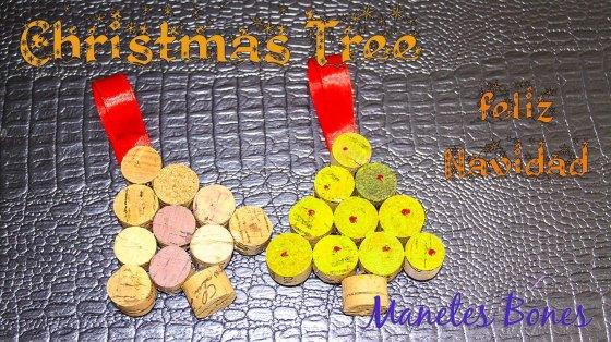 Árbol de Navidad con tapones de corcho
