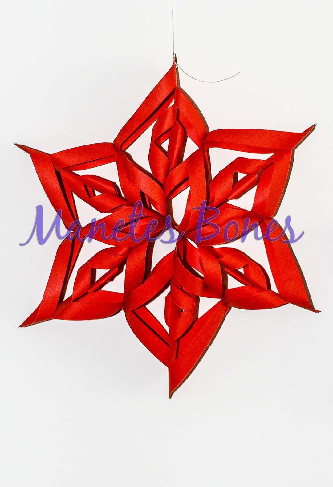 Estrella de navidad viernes de papel videotutorial diy - Estrellas de papel para navidad ...