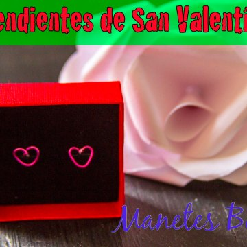 Pendientes de San Valentín en forma de corazón