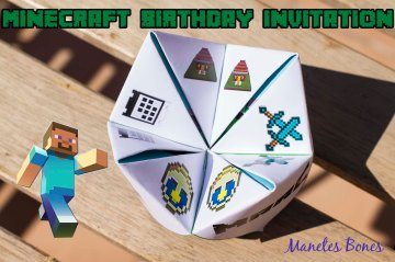 Invitación cumpleaños Minecraft