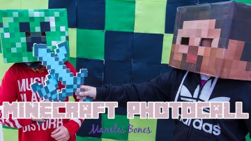 Minecraft Photocall DIY